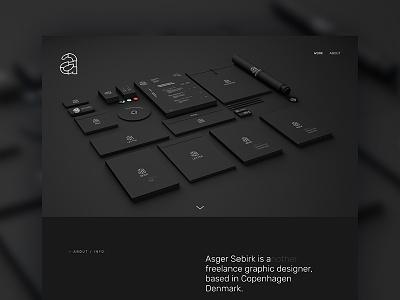 ASDESIG / Webpage graphic design wordpress semplice dark freelance webpage website