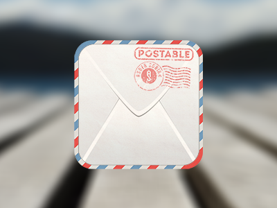 (Freebie Friday) - Envelope icon freebie free psd template envelope iphone icon post letter stamp stample iphone icon