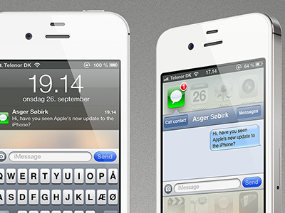 """iPhone """"quick answer"""" (Idea) iphone apple idea inspiration debut sms messages message contact call mock up quick look quick answer mission control mock up pro"""