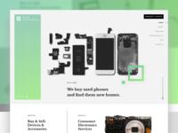 Shine Electronics Landing Page