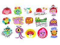 Puffy Sticker Characters