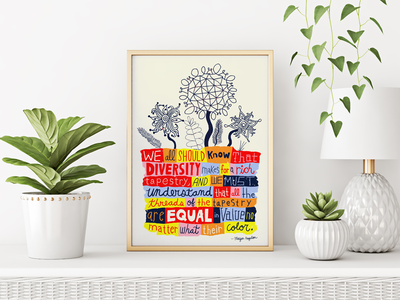 Maya Angelou Quote flower plant folk lettering nate williams illustration handdrawn maya angelou words to live by motivational quotes quote