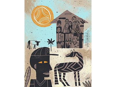 Rwanda Orphanages illustration handdrawn folk nate williams editorial illustration editorial