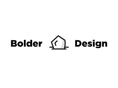 Bolder Design - A play on words minimal flat-design logo-design pun