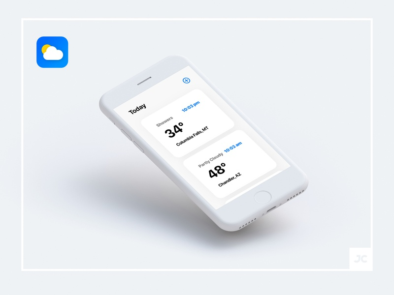 Weather Redesign for IOS Home Screen iphone minimaldesign minimal flat interface ux ui app redesign app weather ui weather app weather ios