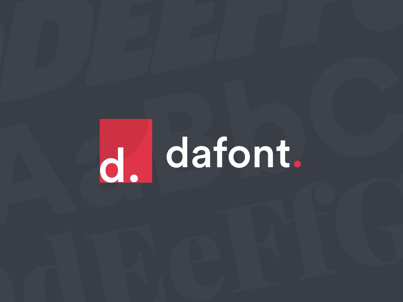 Dafont Branding icon dafont typography branding logo illustration graphic design flat-design flat design minimal