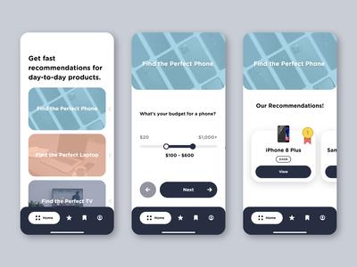 App Concept | Recommend.it