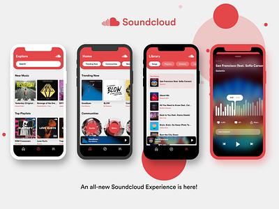 Soundcloud Concept app concept app redesign app design flat design minimal soundcloud music redesign uxdesign uidesign appdesign ux uiux ui
