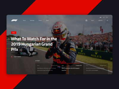 Formula 1 - Website Design