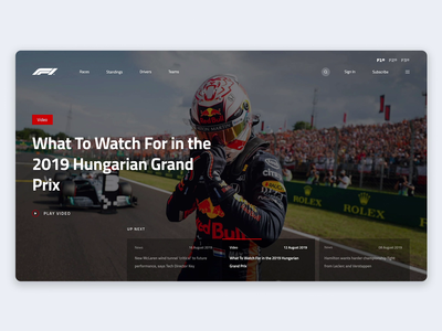 Formula 1 Web design - Animated
