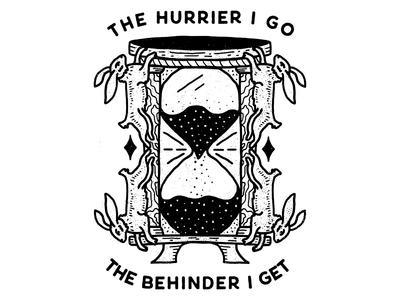 THE HURRIER I GO, THE BEHINDER I GET