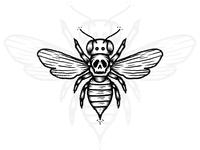 SKULL + BEE