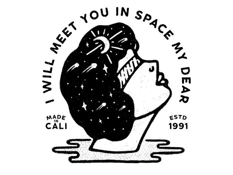 I Will Meet You In Space My Dear draw illustration procreate charleypangus artwork