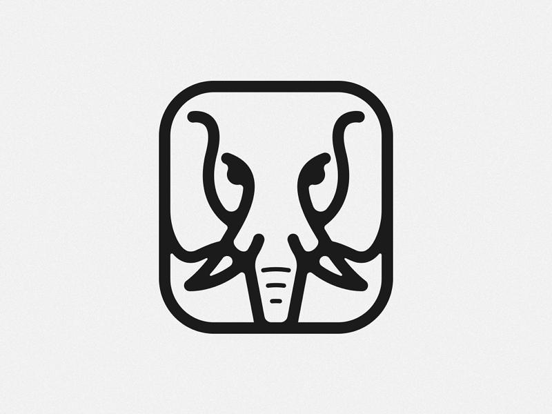 Elephant Icon / Logo logoicon vector simple elephant logo design branding icon logo