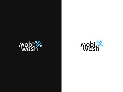 Mobiwash waterlogo water wash blue bluelogo logodesign carwash logotype car minimal