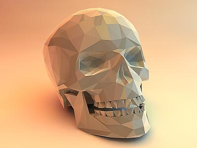 Skull Polygonal polygonal cinema 4d skull vandre render hd
