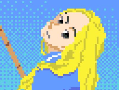 Nino pixelart illustration