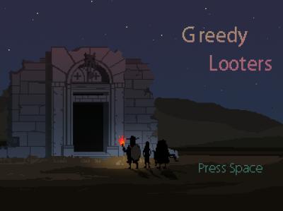 Greedy Looters game illustration pixelart