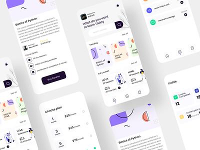 Online course kit uikit uxdesigner appdesign educationapp onlinecourse ux ui ios design