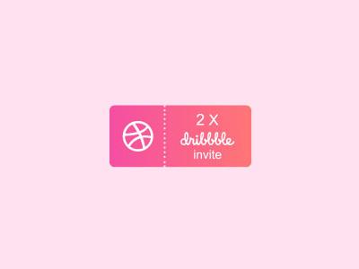 Dribbble Invite logodesign 2xinvites instagram appicon apps illustrator ui designer 2invites invite dribbble