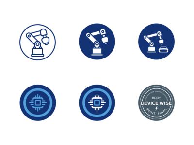 Logo design for manufacturing badge chip circuit car manufacturing illustration sketch logo