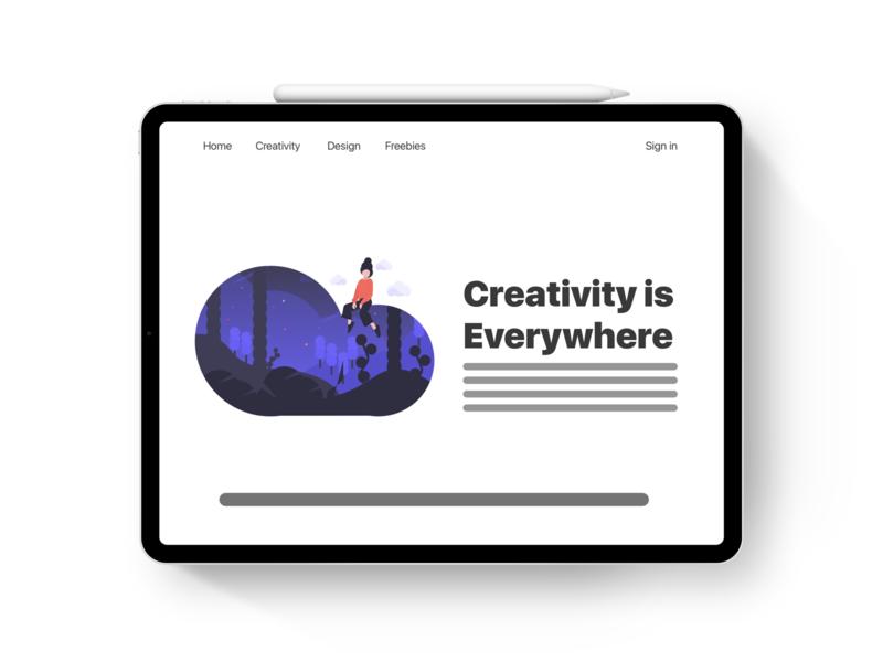 iPad Pro - Webpage 2 webpage web illustration apple design minimal color colorful ios ui ipad pro ipad