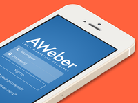 AWeber App - Login