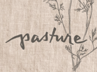 logo for Pasture fine dining restaurant