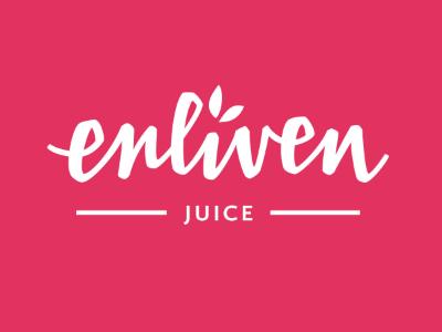 Custom Logotype for Enliven Juice adobe illustrator food packaging hand lettering