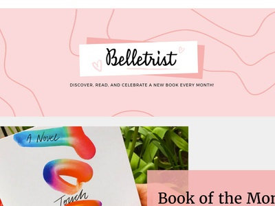Hand Lettered Logotype for Belletrist