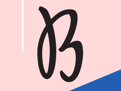 Icon for Belletrist hand lettered logotype millennial pink typography adobe illustrator hand lettering belletrist
