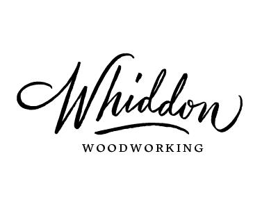 Full logo for Whiddon Woodworking embury text script logo design custom logo woodworking baltimore brush lettering hand lettering lettering