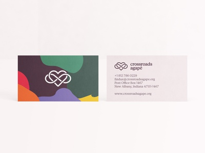 Crossroads Agapé Business Cards mockup stationery print design print brand identity typography identity design design identity branding business card