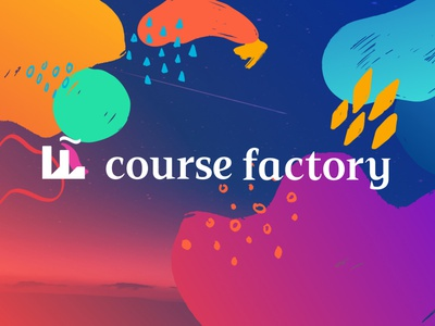 Course Factory Logo + Messaging vector education logo mark icon typography illustration logo design colorful identity design identity branding