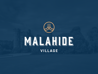 Malahide Village Logo vector logo design typography m village icon branding lockup logo ireland
