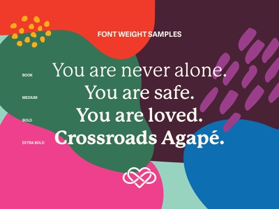 Crossraods Agapé font weight samples brand identity logo mark illustration type identity design design identity branding typography