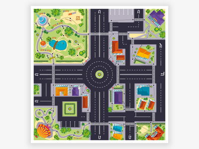 Game map cartoons illustration vector design game map map game