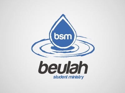 Beulah Student Ministry logo branding beulah students ministry church droplet drop rain water ripple puddle bsm blue student ministry