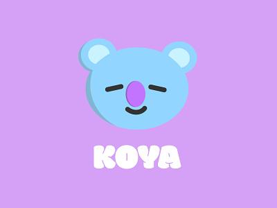 Koya bt21 bts vector illustrator vector art vector illustration illustrator