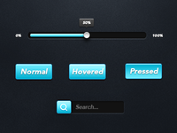 Cyan Mini Web Elements Pack