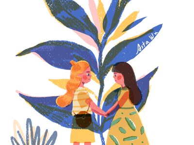 friendship character artwork friend illustration editorial illustration