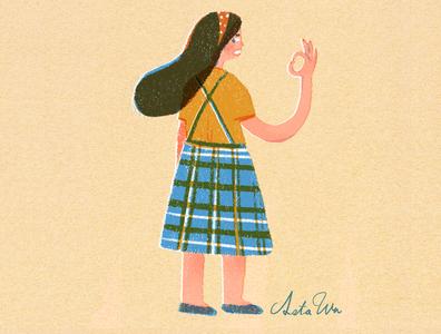 I'm  fine girl illustration girl taiwan design art illustration
