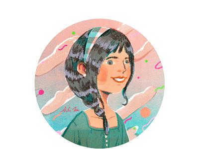 summer girl graphic design girl summer taiwan artwork design illustration