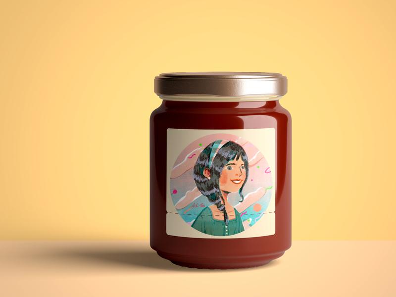 Bee your honey fruit packagingdesign jam summer character artwork art illustration