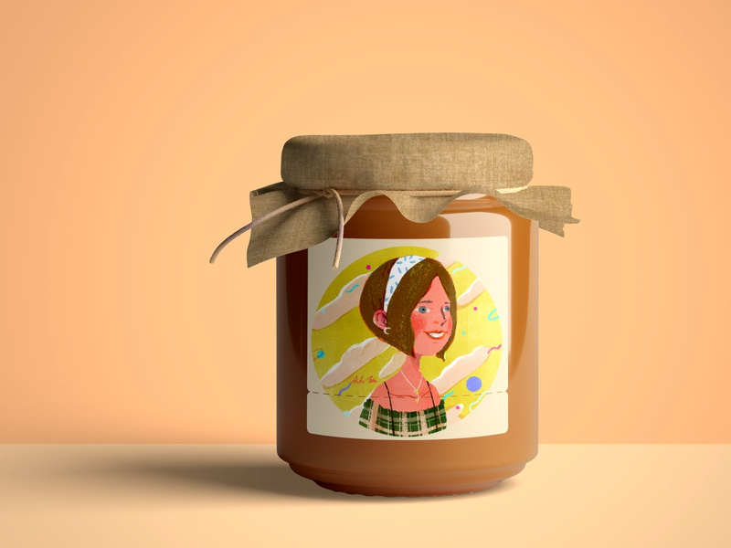 jam girl jam fruit product design editorial illustration summer art branding character design artwork taiwan illustration