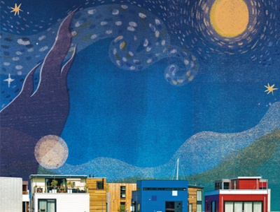Artistic life in Netherlands magazine design netherlands magazine illustration magazine vincent van gogh starry night design editorial illustration character artwork taiwan illustration