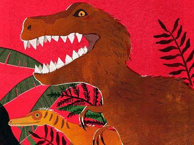 dinosaur editorial illustration design character illustration digital art dinosaur