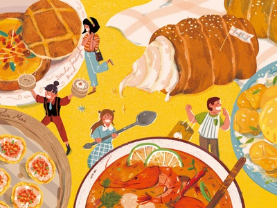cuisine food illustration soup taiwan editorial illustration art illustration