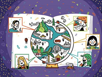 connecting the world taiwan design editorial illustration art artwork illustration