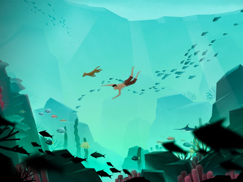 Lake bottom illustration